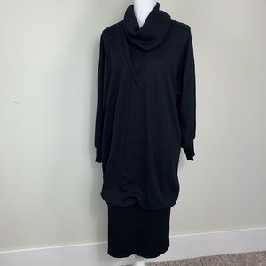 Vintage Langford oversized black sweater dress